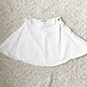American Apparel White Denim Circle Skirt